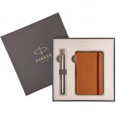 Набор с блокнотом и перьевой ручкой Parker (Паркер) Sonnet Core Stainless Steel CT M