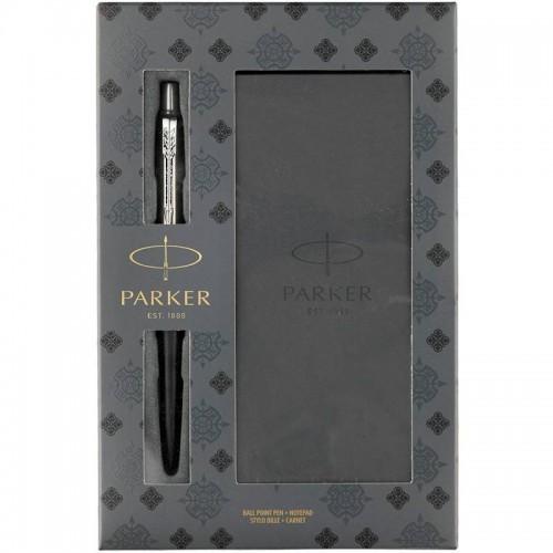 Подарочный набор из шариковой ручки Parker (Паркер) Jotter Core Bond Street Black CT и блокнота в Санкт-Петербурге