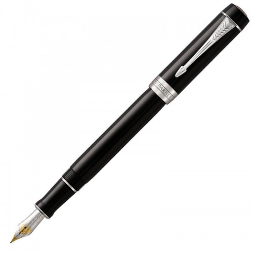 Перьевая ручка Parker (Паркер) Duofold International Classic Black CT F в Санкт-Петербурге