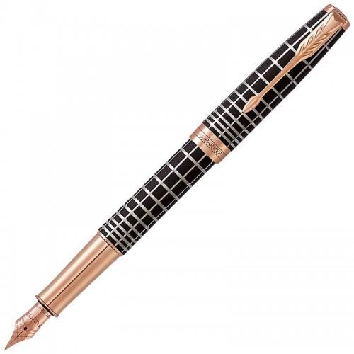 Перьевая ручка Parker (Паркер) Sonnet Premium Brown Rubber PGT F 18k в Санкт-Петербурге