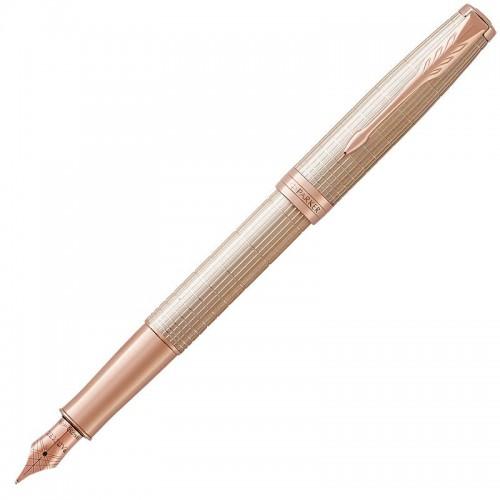 Перьевая ручка Parker (Паркер) Sonnet Luxury Cisele Silver PGT F в Санкт-Петербурге