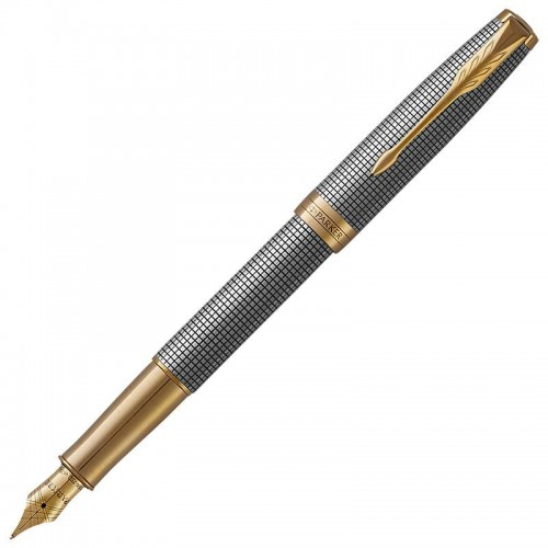 Перьевая ручка Parker (Паркер) Sonnet Luxury Cisele Silver GT F в Санкт-Петербурге