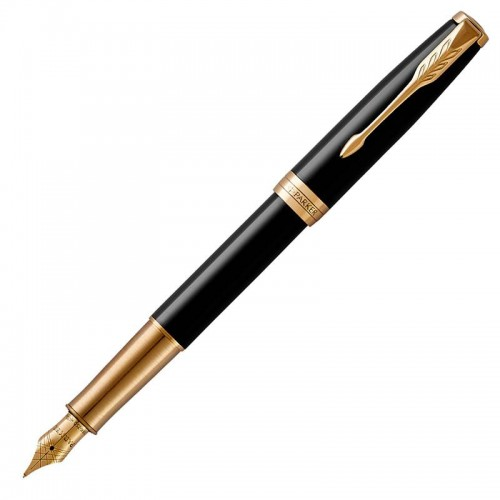 Перьевая ручка Parker (Паркер) Sonnet Core Black Lacquer GT F в Санкт-Петербурге