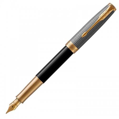 Перьевая ручка Parker (Паркер) Sonnet Premium Black Silver GT F в Санкт-Петербурге