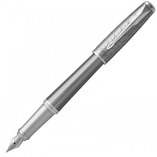 Перьевая ручка Parker (Паркер) Urban Premium Silvered Powder CT F в Санкт-Петербурге