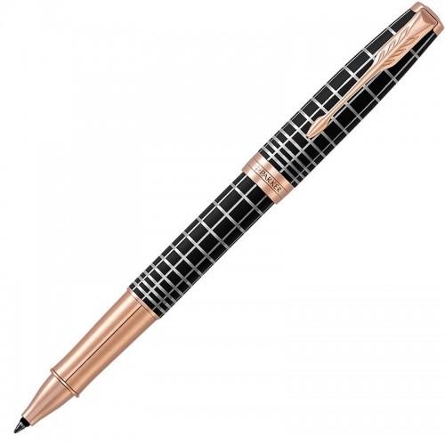Ручка-роллер Parker (Паркер) Sonnet Premium Brown Rubber PGT в Санкт-Петербурге