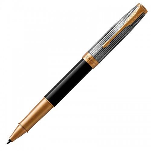 Ручка-роллер Parker (Паркер) Sonnet Premium Black Silver GT в Санкт-Петербурге