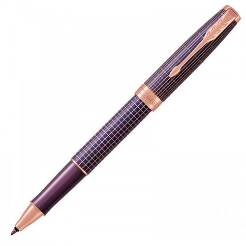 Ручка-роллер Parker (Паркер) Sonnet Luxury Cisele Purple Matrix PGT в Санкт-Петербурге