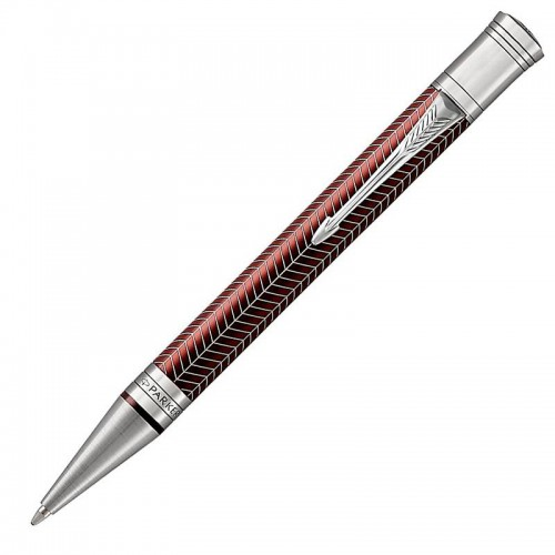 Шариковая ручка Parker (Паркер) Duofold Prestige Burgundy Chevron CT в Санкт-Петербурге
