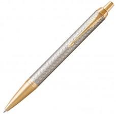 Шариковая ручка Parker (Паркер) IM Premium Warm Silver/Gold GT