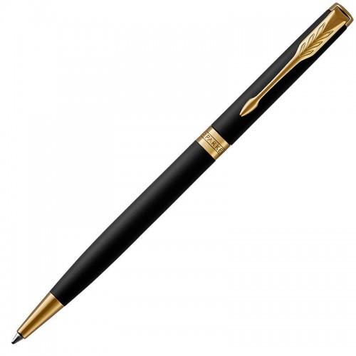 Шариковая ручка Parker (Паркер) Sonnet Core Slim Matte Black Lacquer GT в Санкт-Петербурге